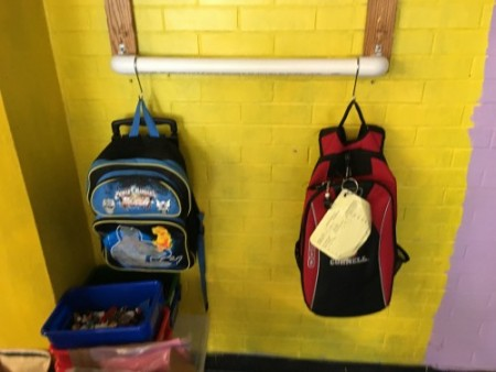 Backpacks Classroom Renovation